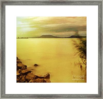 Balaton Landscape Framed Print by Odon Czintos
