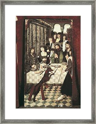 Balbases, Master Of 15th C.. Miracle Framed Print by Everett