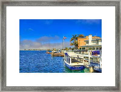 Balboa Island - North Framed Print by Jim Carrell