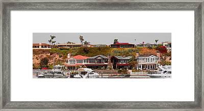 Balboa Island Panorama Framed Print by Ben and Raisa Gertsberg