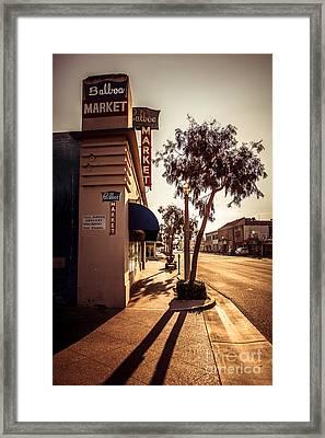 Balboa Market Newport Beach Photo Framed Print by Paul Velgos