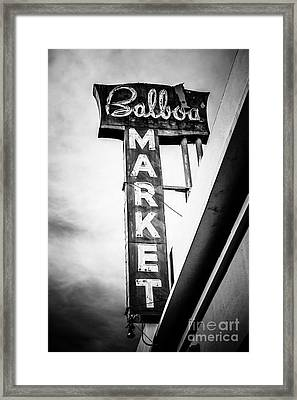 Balboa Market Sign Orange County California Photo Framed Print by Paul Velgos