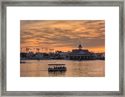 Balboa Pavilion Framed Print by Eddie Yerkish