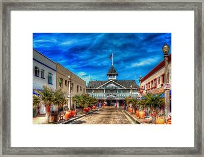 Framed Print featuring the photograph Balboa Pavilion by Jim Carrell