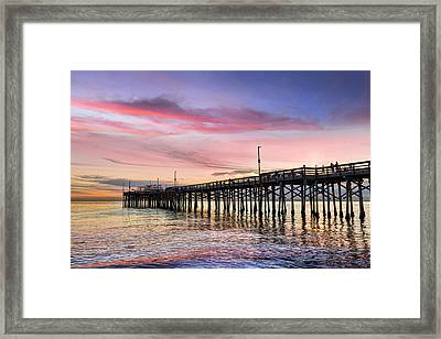 Balboa Pier Sunset Framed Print by Kelley King