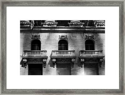 Balconies At Nyse  Framed Print by Jose Maciel