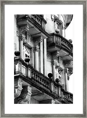Balconies In Bogota Framed Print by John Rizzuto