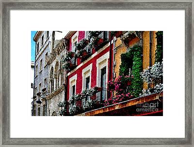 Balconies Of Leon - Digital Painting Framed Print