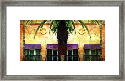 Balconies Of Venice Ave Framed Print by Barbara Chichester