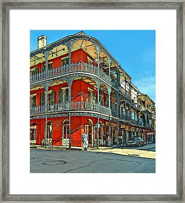 Balconies Painted Framed Print