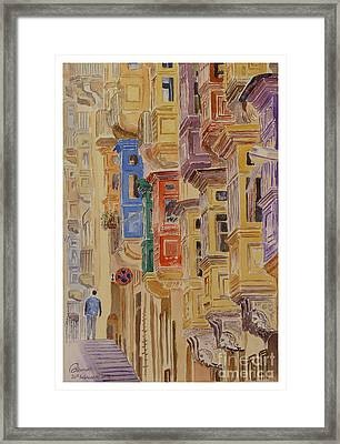 balconies Valletta Framed Print