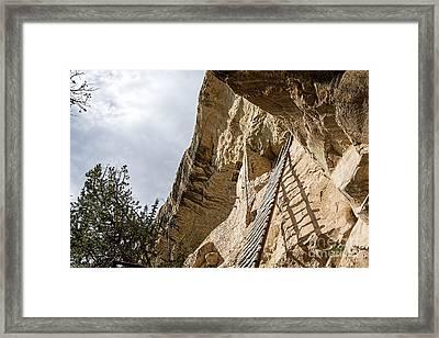 Balcony 32' Ladder Framed Print by Keith Ducker