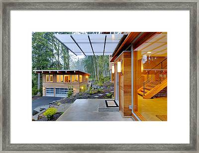 Balcony And Awning Of Modern House Framed Print by Will Austin