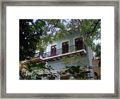 Balcony At La Caleta Framed Print