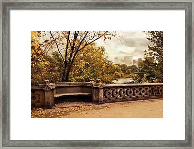 Balcony Bridge Views Framed Print
