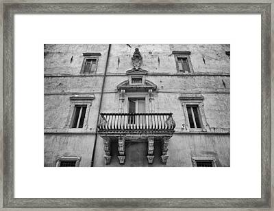 Balcony In Assisi Framed Print
