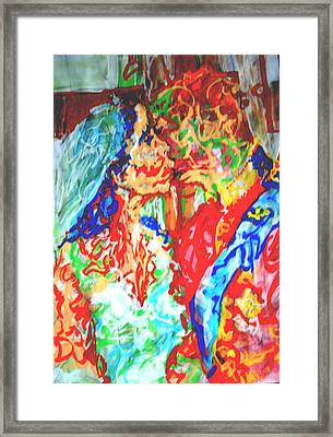 Balcony Kiss Framed Print by Godfrey McDonnell