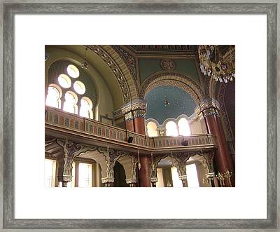 Balcony Of Sofia Synagogue Framed Print