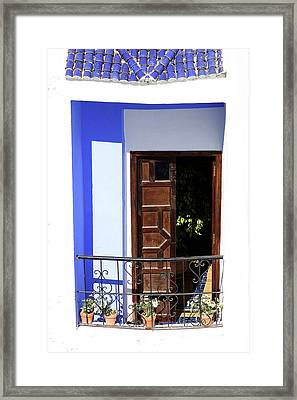 Balcony Old Medina Tangier Morocco Colour Version Framed Print by PIXELS  XPOSED Ralph A Ledergerber Photography