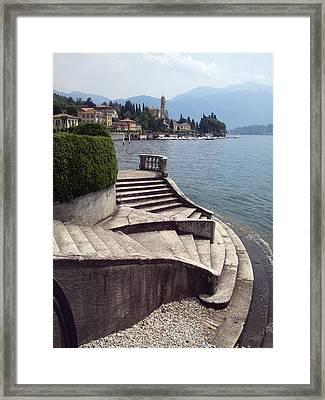 Balcony On The Lake Framed Print by  Roberto Arcari Farinetti