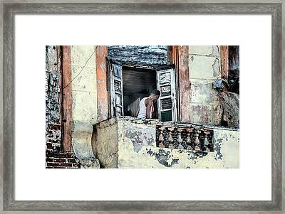 Balcony On The Malecon Framed Print