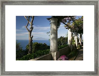 Balcony Overlooking The Sea, Villa San Framed Print by Panoramic Images