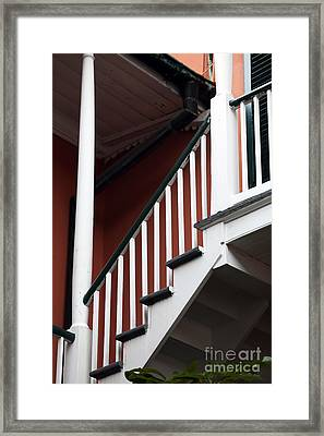 Balcony Stairs Framed Print