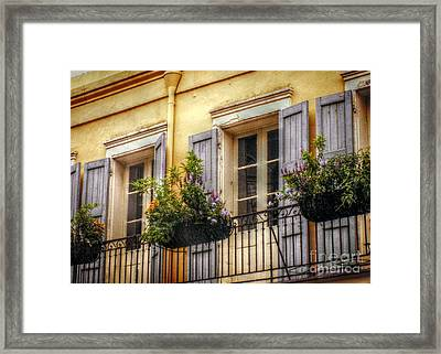 French Quarter Balcony Framed Print