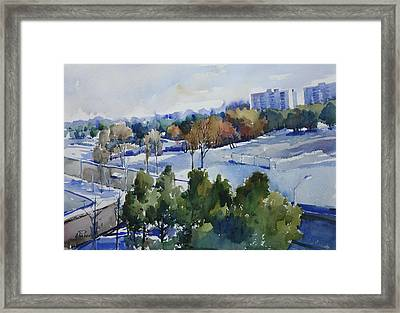 Balcony View Framed Print by Helal Uddin