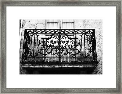Balcony Window In South West France Framed Print