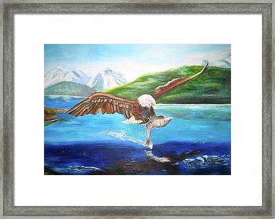 Bald Eagle Having Dinner Framed Print