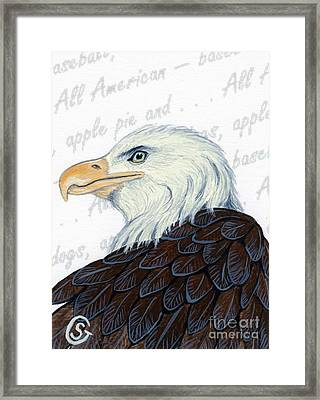 Bald Eagle -- Proud To Be An American Framed Print by Sherry Goeben