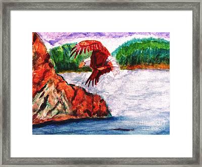 Bald Eagle Framed Print by Stanley Morganstein
