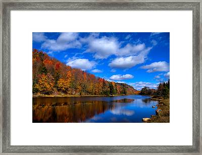 Bald Mountain Pond In Autumn Framed Print by David Patterson