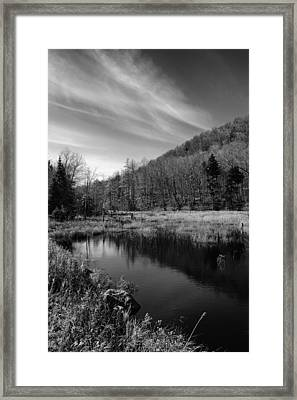 Bald Mountain Pond In October Framed Print