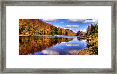 Bald Mountain Pond In The Adirondack Mountains Framed Print by David Patterson