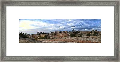 Bald Rock Panorama Framed Print