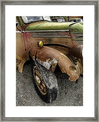Bald Tire Framed Print