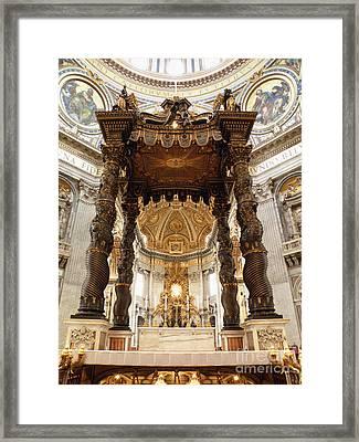 Baldacchino Di San Pietro Framed Print