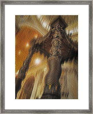 Framed Print featuring the photograph Baldachino Number One by Joe Winkler