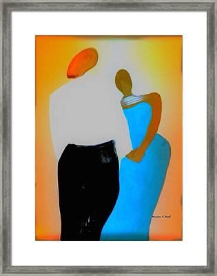 Baldheadlove Framed Print by Romaine Head