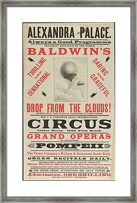 Baldwin's Drop From The Sky Framed Print