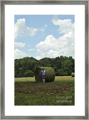 Bale Babe Framed Print by ARTography by Pamela Smale Williams
