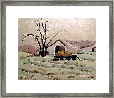 Bale Wagon  Framed Print by Charlie Spear