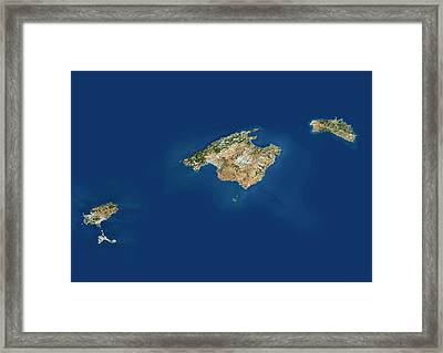 Balearic Islands Framed Print by Planetobserver/science Photo Library