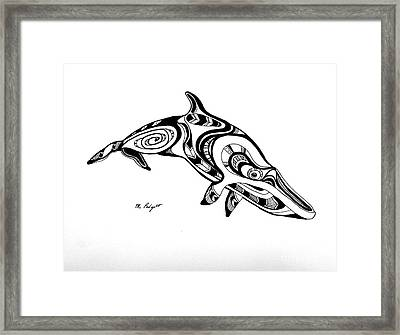 Baleen Framed Print by Morgan Padgett
