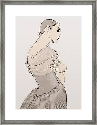 Balenciaga Framed Print by H James Hoff