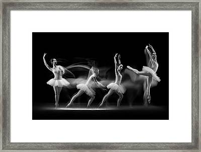 Balerina Art Wave Framed Print