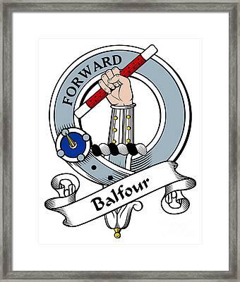 Balfour Clan Badge Framed Print by Heraldry
