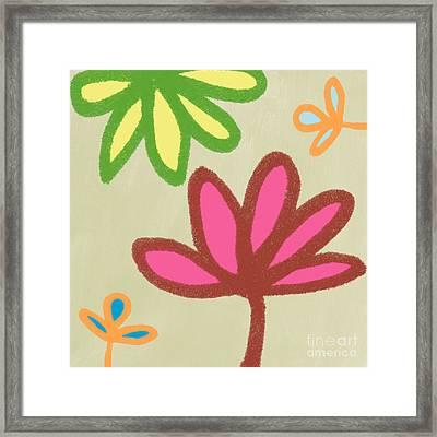 Bali Garden Framed Print by Linda Woods